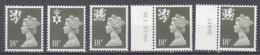 PGL BZ743 - GRANDE BRETAGNE Yv N°1253/55+a ** REGIONALES - 1952-.... (Elizabeth II)