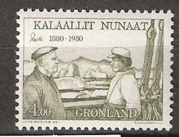 """Greenland 1980 Ejnar Mikkelsen (1880-1971), Polar Explorer, Aboard The Ship """"Gustav Holm""""  Mi 125, MNH(**) - Grönland"""