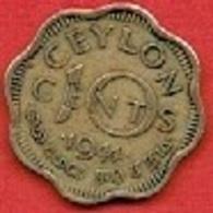 CEYLON # 10 Cents - George VI  FROM 1944 - Sri Lanka