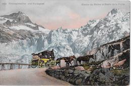 FURKAPOST → Gespann In Den Kehren Beim Rhonegletscher Anno 1910 - VS Valais