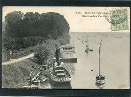 CPA - MEULAN - Station Des Yachts, Animé - Meulan