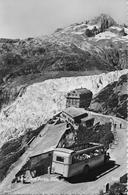 FURKASTRASSE BEIM RHONEGLETSCHER  → Offenes Saurer Post-Auto, Fotokarte Ca.1950 - VS Valais