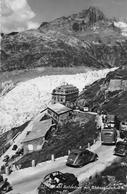 FURKASTRASSE BEIM RHONEGLETSCHER  → Verkehrschaos Beim Belvedere, Fotokarte Ca.1950 - VS Valais