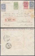 BELGIQUE COB 56+58+60 X2 SUR LETTRE RECOMMANDE DE DEURNE 18/01/1904 VERS PAYS-BAS (DD) DC-2089 - 1893-1800 Fijne Baard