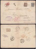 BELGIQUE COB 53 SUR LETTRE DE BRUGES 19/12/1895 VERS LA FRANCE TAXE RETOUR  BRUGE TAXE 10c  (DD) DC-2091 - 1905 Grosse Barbe