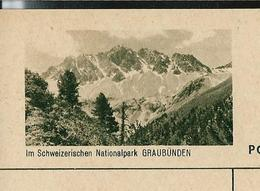 Carte Illustré Neuve N° 182 - 0171 D  -  Im Schweizerischen Nationalpark GRAUBÜNDEN (Zumstein 2009) - Entiers Postaux