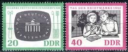 DDR - Mi 923 / 924 - ** Postfrisch (B) - 20-40Pf             10 Jahre Deutscher Fernsehfunk - [6] République Démocratique