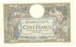 100 Francs LOM 1915 TTB - 100 F 1908-1939 ''Luc Olivier Merson''