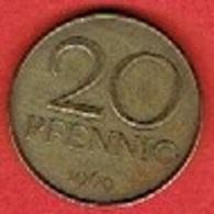 DDR # 20 PFENNIG   FROM 1969 - [ 6] 1949-1990 : GDR - German Dem. Rep.