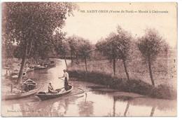 Cpa...Saint-Omer...(venise Du Nord)...marais A Clairmarais...animée...1919... - Saint Omer