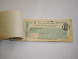 CHEQUIER SOCIETE GENERALE SAINT-DIZIER Haute-Marne. TALONS PAIEMENT BIERE FORT CARRE ST-DIZIER. BURGEAT GIRARDOT GOURZON - Cheques & Traveler's Cheques