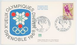 FDC - Grenoble Jeux Olympiques 1968 - Inauguration - Hockey Sur Glace - 1960-1969