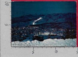 CARTOLINA VG NORVEGIA - NARVIK - Byen Ved Natt - Night - 10 X 15 - ANN. 1977 ROGNAN - Norvegia