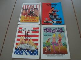 LOT DE 4 AFFICHES A4 CINEMA PUBLICITE - Posters