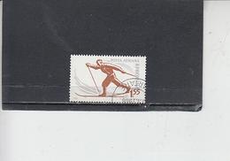 ROMANIA    1961 - Yvert   A 133 - Sport - Sci - 1948-.... Repubbliche