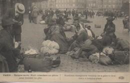75 PARIS  - Emigrants Du Nord Attendant Un Pilote Pour Trouver Un Gite (Guerre De 14/18) - Frankreich