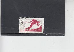 ROMANIA    1961 - Yvert   A 132 - Sport - Arrampicata - 1948-.... Repubbliche
