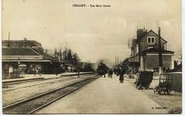 6490 -  Saone Et Loire - CHAGNY :  LES DEUX GARES  +  Cachet Service Militaire Des Chemins De Fer - Chagny