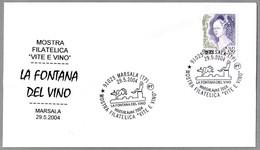 Exposicion De VINO - LA FUENTE DEL VINO - THE FOUNTAIN OF WINE. Marsala, Trapani, 2004 - Vinos Y Alcoholes