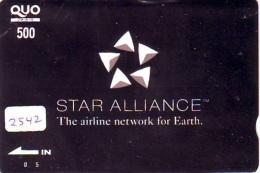 Télécarte  JAPON * STAR ALLIANCE * (2542) *  AVIATION * AIRLINE Phonecard  JAPAN AIRPLANE * FLUGZEUG - Avions