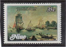 VV2 - NIUE PO244 ** MNH De 1979 - Portrait De COOK - RESOLUTION Et DISCOVERY ( Canal De La Reine Charlotte ) - Niue