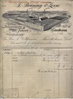 """J.BRÜNING & ZOON  Voorheen Houtindustrie """" Picus"""" Sigarenkistenfabriek EINDHOVEN  Factuur 6 November 1911 - Nederland"""