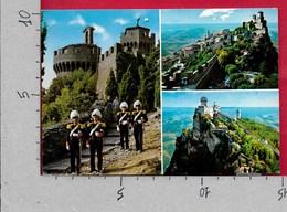 CARTOLINA VG SAN MARINO - Vedutine Multivue - 10 X 15 - ANN. 1987 AFFRANCATURA MULTICOLORE - San Marino
