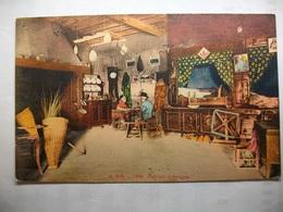 Carte Postale Folklore -Auvergne - Intérieur Auvergnat   (Petit Format Couleur Correspondance 1944 ) - Folklore