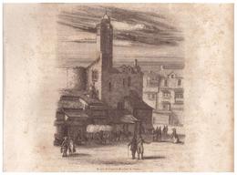 1844 - Gravure Sur Bois - Nantes (Loire-Atlantique) - Restes De L'ancien Bouffay - FRANCO DE PORT - Estampes & Gravures