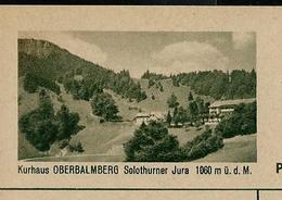 Carte Illustré Neuve N° 182 - 0193 D - Kurhaus OBERBALMBERG Solothurner Jura 1060 M ü. D. M.  (Zumstein 2009) - Entiers Postaux