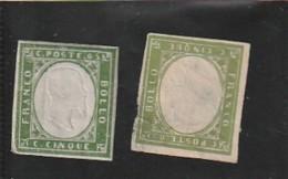 ITALIE ---  SARDAIGNE ---  N° 10 Vert Et Vert Jaune - 1 Deuxieme Choix - Sardaigne