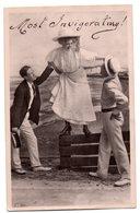 Tarjeta Postal  Circulada Mujer Con Hombres. - Inglaterra