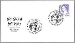 10 FERIA DEL VINO - 10 FAIR WINE. Vittorito, L'Aquila, 2004 - Vinos Y Alcoholes