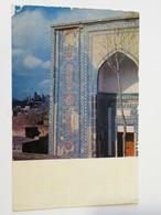 Carte Postale : UZBEKISTAN : SAMARKAND : Shakhi Zinda Mausoleum, Stamp - Ouzbékistan