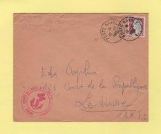 Poste Navale - Service De L Habillement Couchage Et Casernement - Marianne De Decaris - 1960 - Postmark Collection (Covers)