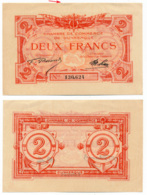 1914-1918 // C.D.C. // DUNKERQUE // 2 Francs // Filigrane Feuilles - Chambre De Commerce