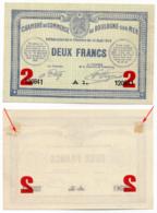 1914-1918 // C.D.C. // BOULOGNE Sur MER // 14 Août 1914 // 2 Francs // Sans Filigrane - Chambre De Commerce