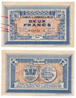 1914-1918 // C.D.C. // MELUN // 15 Octobre 1915 // 2 Francs // Sans Filigrane - Chambre De Commerce