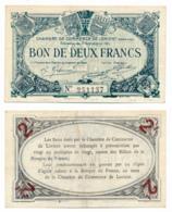 1914-1918 // C.D.C. // LORIENT // 3 Septembre 1915 // 2 Francs // Filigrane Abeilles - Chambre De Commerce