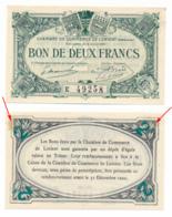 1914-1918 // C.D.C. // LORIENT // 2 Juin 1920 // 2 Francs // Série E // Sans Filigrane - Chambre De Commerce
