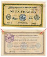 1914-1918 // C.D.C. // MONTLUCON-GANAT // 5 Octobre 1915 // 2 Francs // Sans Filigrane - Chambre De Commerce