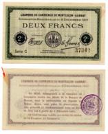 1914-1918 // C.D.C. // MONTLUCON-GANAT // 6 Décembre 1917 // 2 Francs // Sans Filigrane - Chambre De Commerce