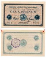 1914-1918 // C.D.C. // MONTLUCON-GANAT // 14 Octobre 1918 // 2 Francs // Sans Filigrane - Chambre De Commerce