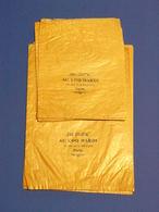 LOT DE 10 SAC  CRISTAL  2 GRANDEURS  AU COQ HARDI 18 QUAI DE LA MEGISSERIE PARIS - Vieux Papiers