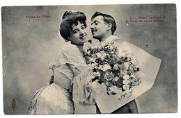 Tarjeta Postal  De  Pareja. - Matrimonios