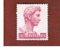 ITALIA REPUBBLICA -  UN.1277/A  -  1974 SAN GIORGIO  LIRE 1000 (FLUORESCENTE)   -  NUOVI **(MINT) - 6. 1946-.. Republic