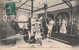 BAR SUR SEINE - LES VERRERIES ET CRISTALLERIES - LA SALLE DES MACHINES - SUPERBE CARTE - PEU COURANTE - TRES ANIMEE - 2 - Bar-sur-Seine