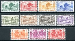 Nouvelles Hebrides 1953 Pictorials Set HM (SG F81-F91) - French Legend