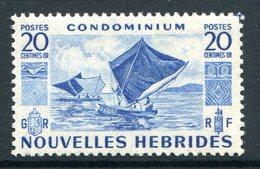 Nouvelles Hebrides 1953 Pictorials - 20c Value LHM (SG F84) - French Legend