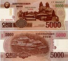 NORTH KOREA     5000 Won      Comm.       P-CS18        J. 102 / 2013 (2014)       UNC - Corea Del Nord